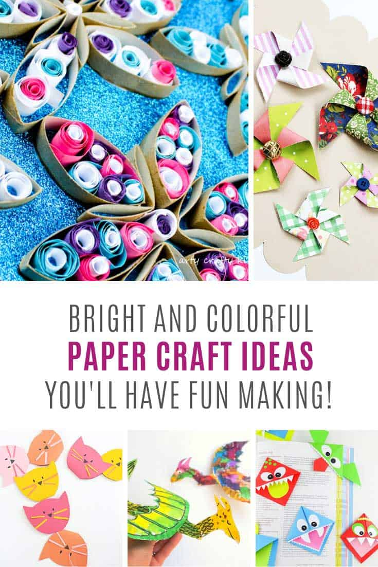Loving these bright and colorful paper craft ideas for children!