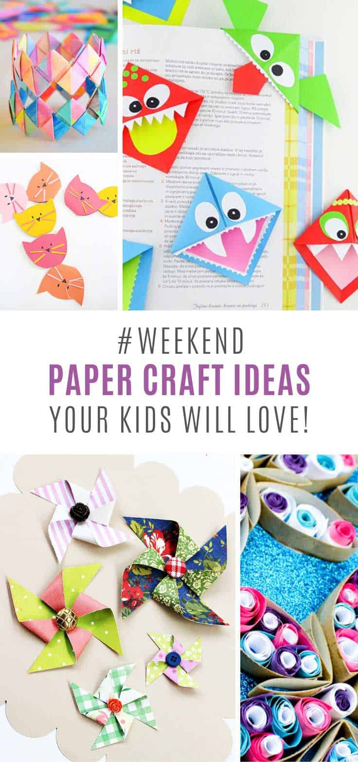 These paper craft ideas for kids look like super fun!