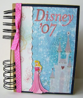 A scrapbook inspired Disney autograph book
