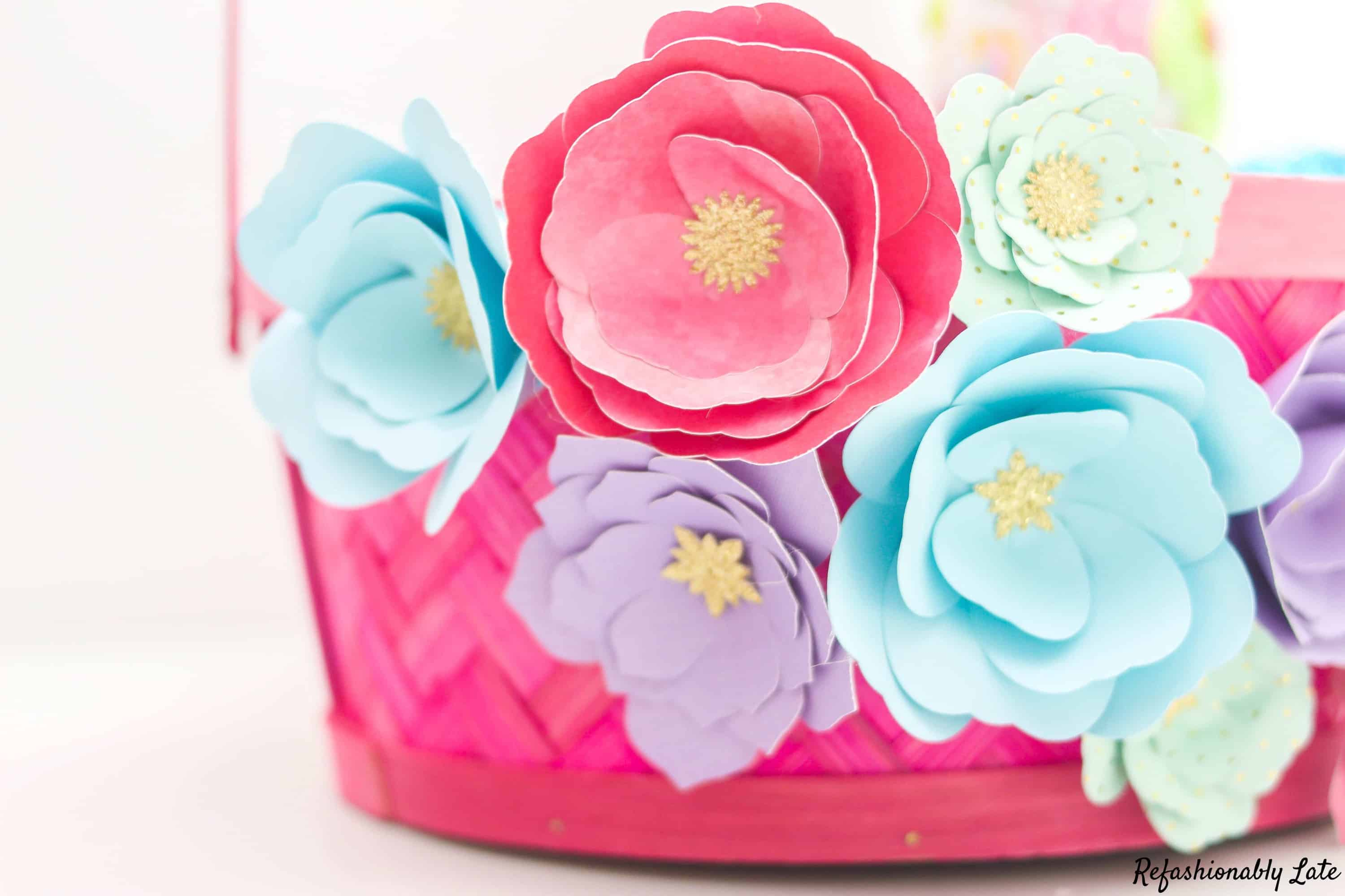 Paper Flower Easter Basket