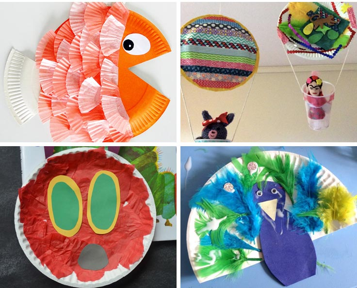 Those hot air balloons are a great way to turn a paper plate into something beautiful!