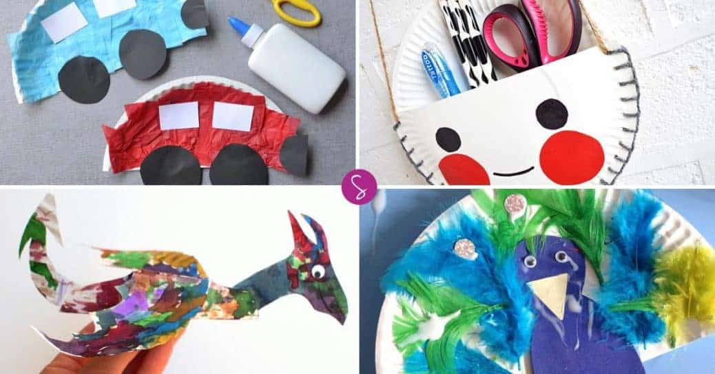 Easy paper plate crafts for kids of all ages to enjoy for Fun crafts for all ages
