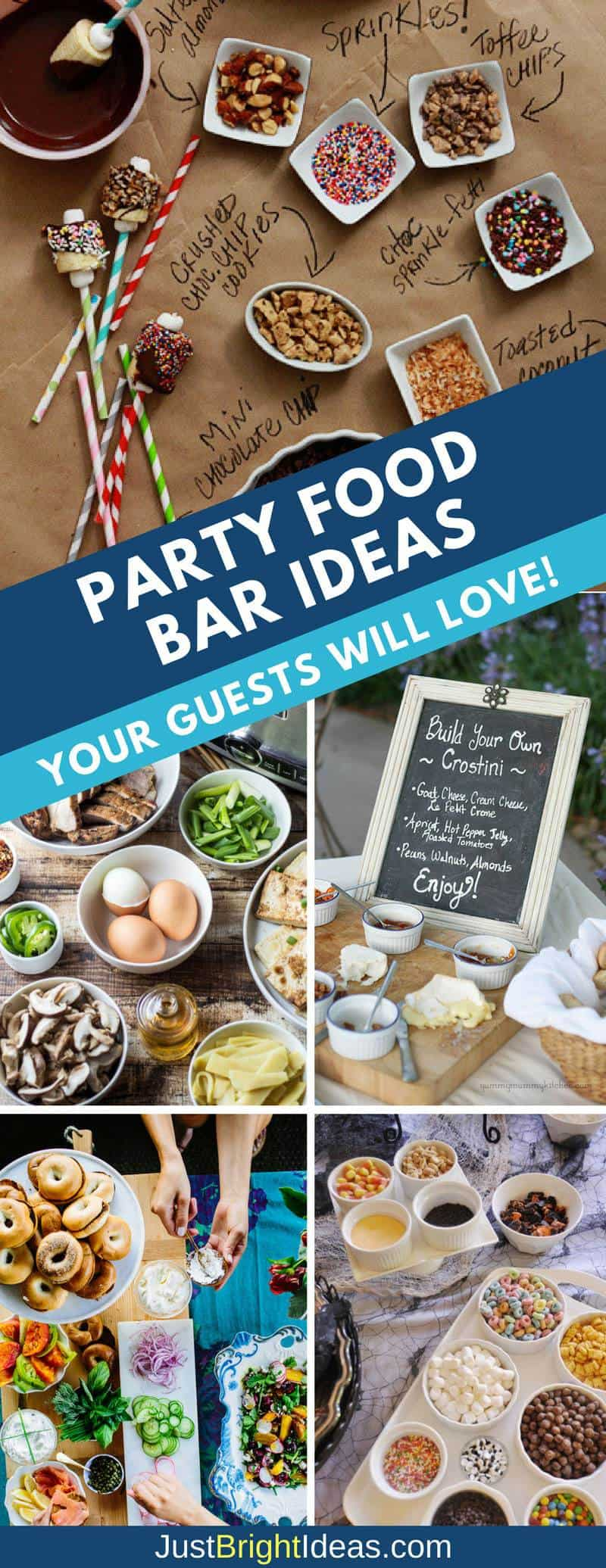 26 build your own party food bar ideas your guests will go for Food bar party ideas