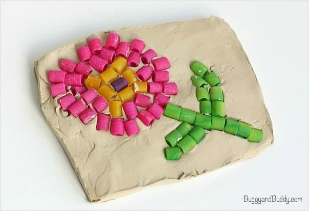 Pasta Mosaic Art Project for Kids