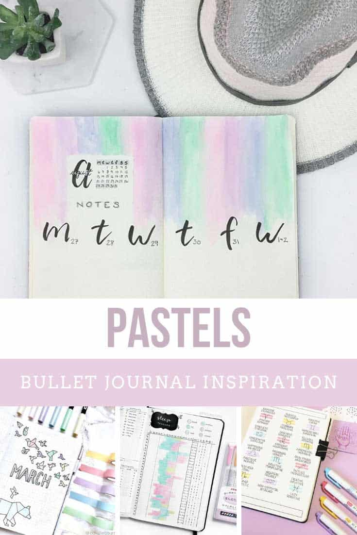 So PRETTY! If you love pastel colors you are going to want to copy some of these ideas into your bullet journal!