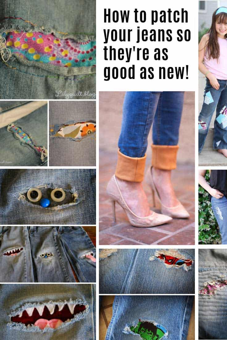 So many cute patches on jeans to try!