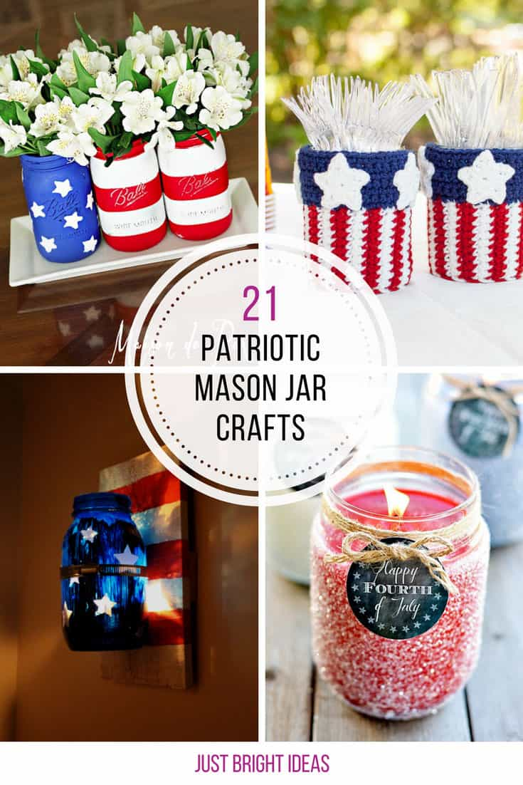 These patriotic mason jar crafts are fabulous - Thanks for sharing!