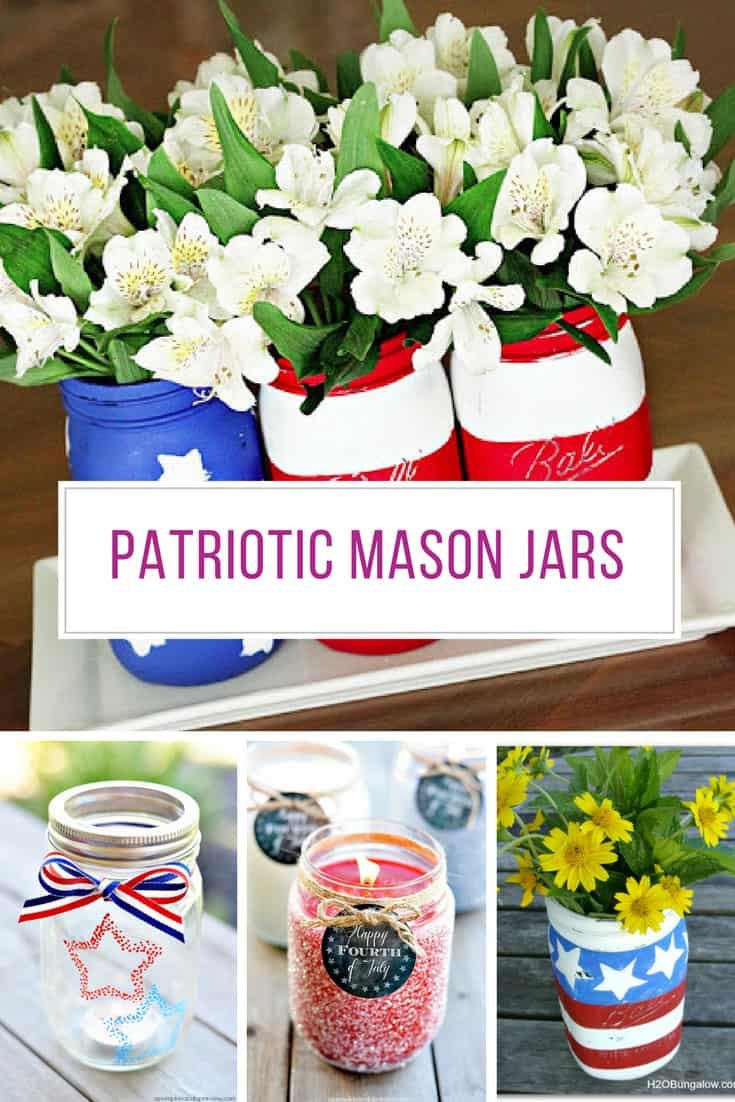 Loving these patriotic mason jars! Thanks for sharing!
