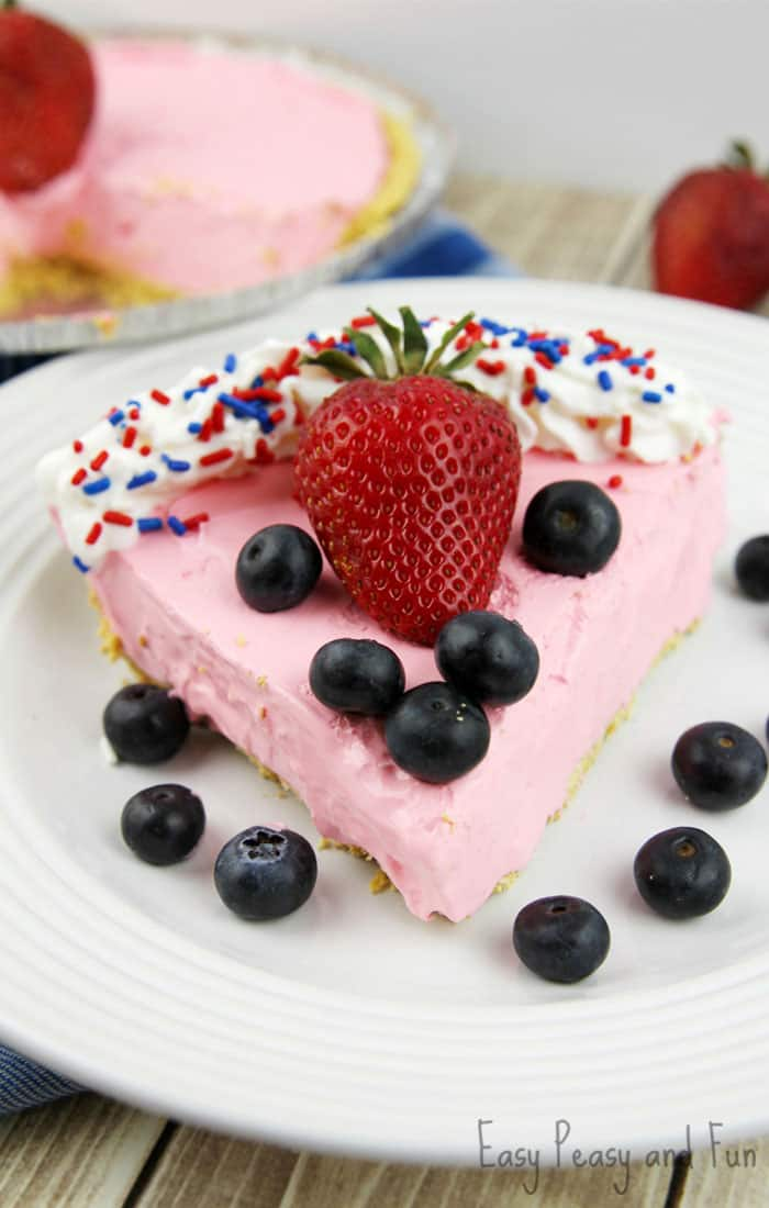 Patriotic Strawberry Kool-Aid Pie