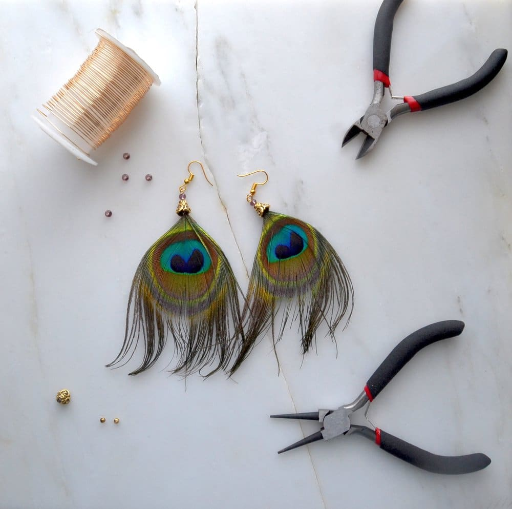 Peacock Earrings -  Jewelry Making Tutorial