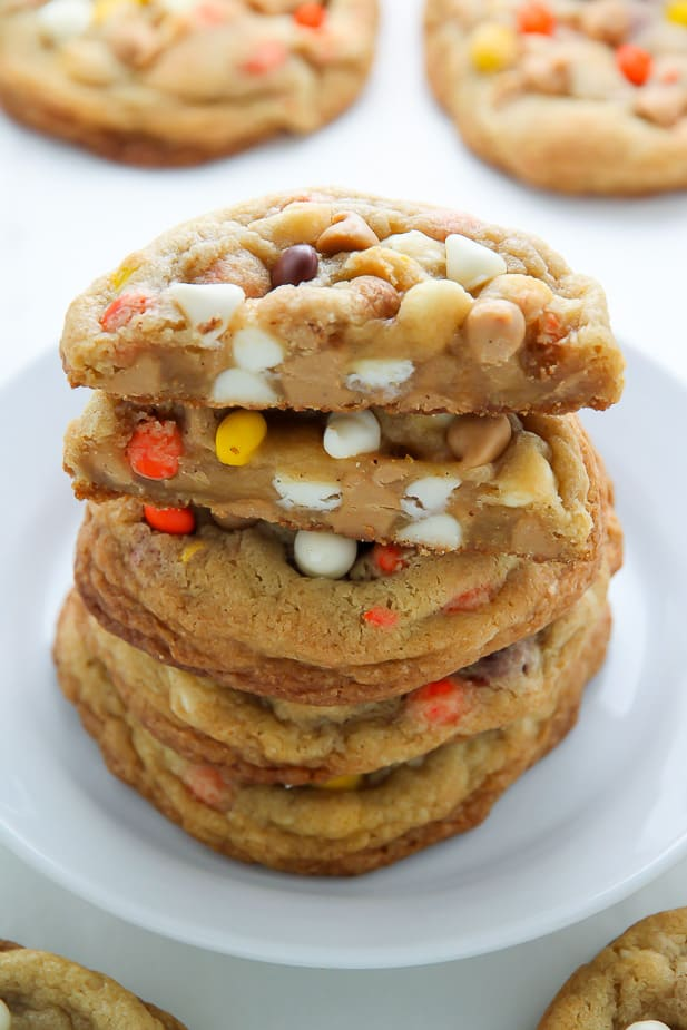 Love Reese's Pieces? These are the Halloween Cookies for you!
