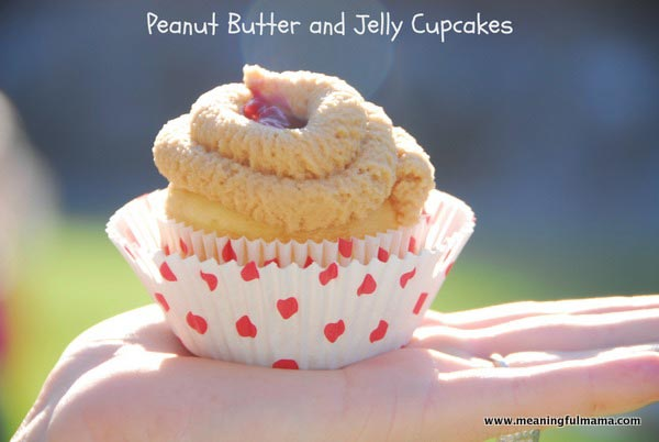Peanut Butter and Jelly Cupcakes - Meaningfulmama.com