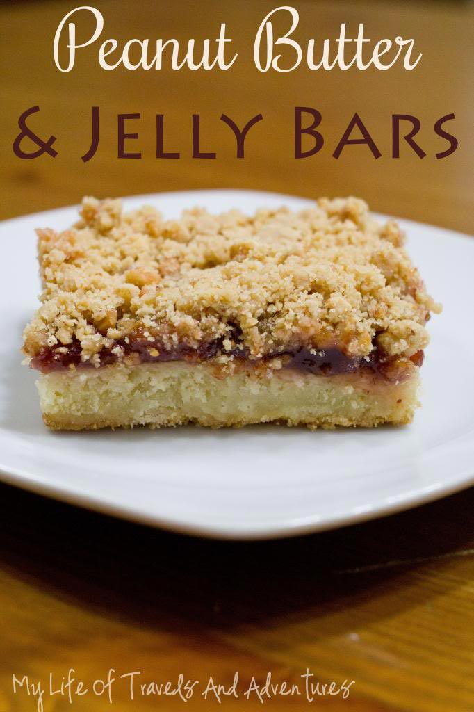 Peanut Butter & Jelly Bars - My Life of Travels and Adventures