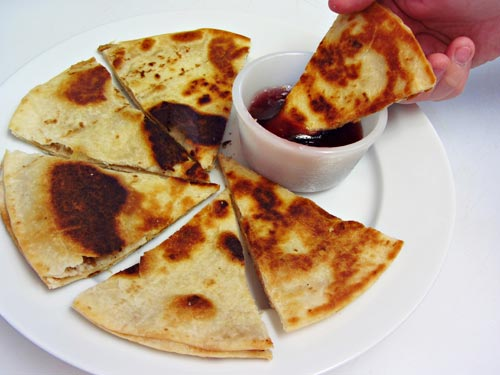 Peanut Butter Quesadillas with Grape Jelly Dipping Sauce - Home Cooking Memories
