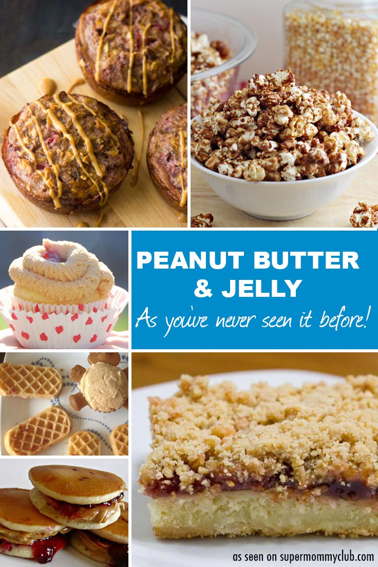 Wow! These peanut butter and jelly recipes look YUMMY - and make a change from a sandwich!