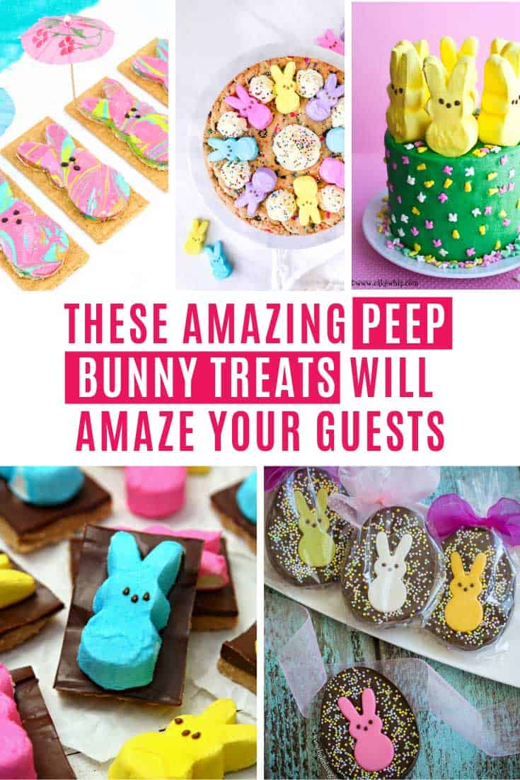 Whether you want something so simple the kids can help you put it together, or a show-stopping centerpiece to your Easter table that will have your guests drooling you are sure to find something to suit in this list  of Peep bunny treats!