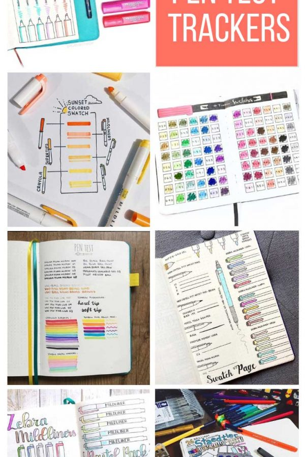 These pen test tracker spreads are a must have for your BUJO!