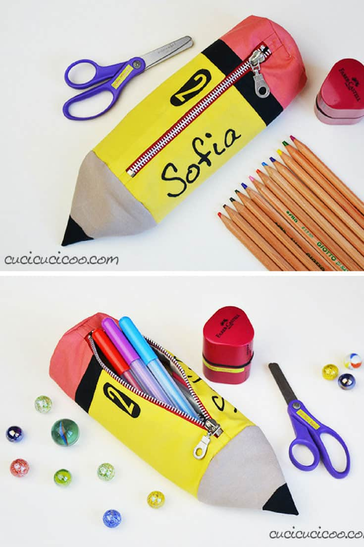 Pencil Shaped Pencil Case Free Pattern