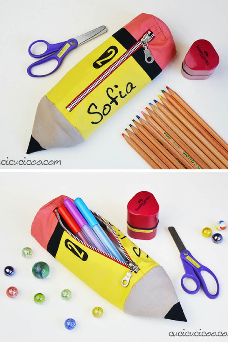 Pencil Shaped Pencil Case Tutorial