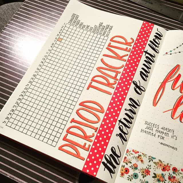 Period Tracker Bullet Journal