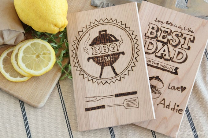 Personalized Wood-Burning for Dad