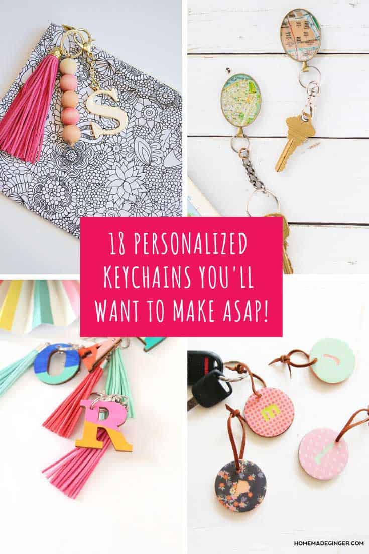 These personalized keychain crafts are fun for kids and grownups and make thoughtful gift ideas for all kinds of occasions