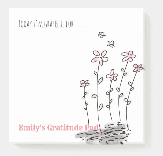 Personlaized Gratitude Post it Notes