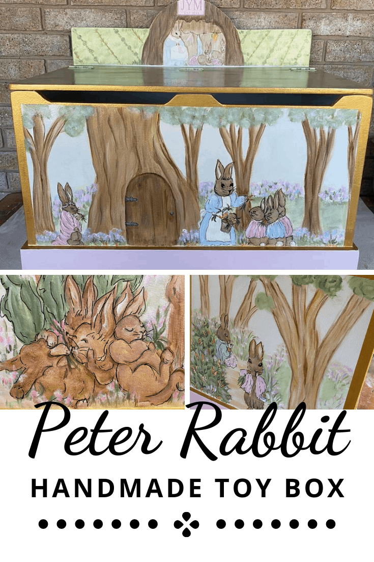 Peter Rabbit inspired Handmade Toy Storage Box