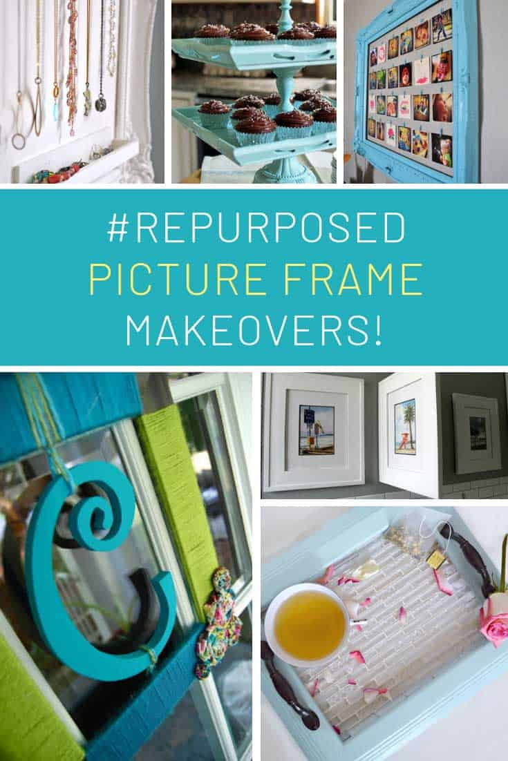 These picture frame makeovers are GENIUS!