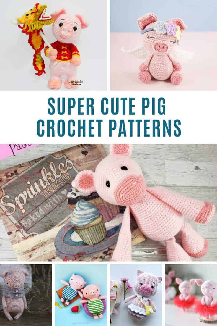 These pig crochet toys are ADORABLE!