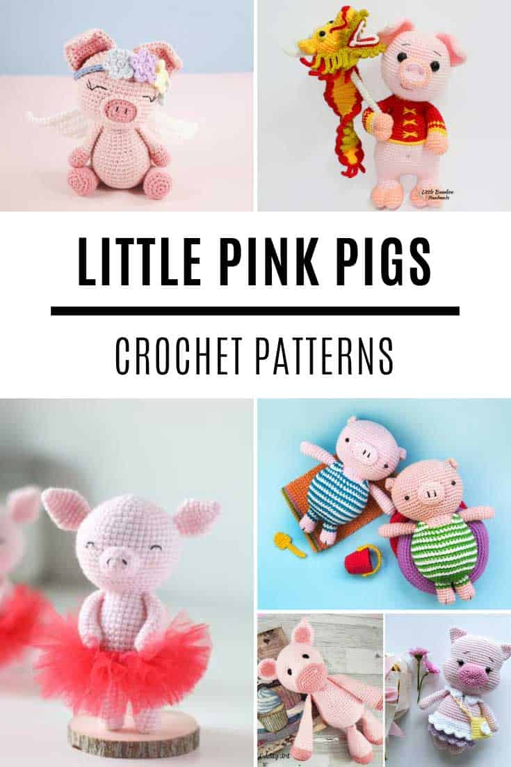 So many ADORABLE pig toy crochet patterns - perfect for boys and girls!