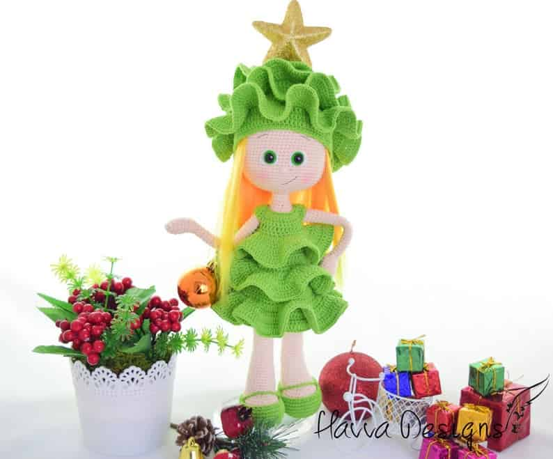 Christmas Tree Costume Doll