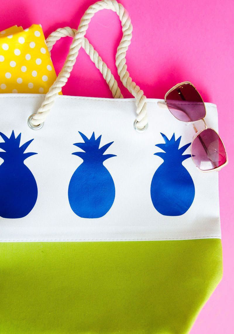 Pineapple DIY Tote Bag Tutorial