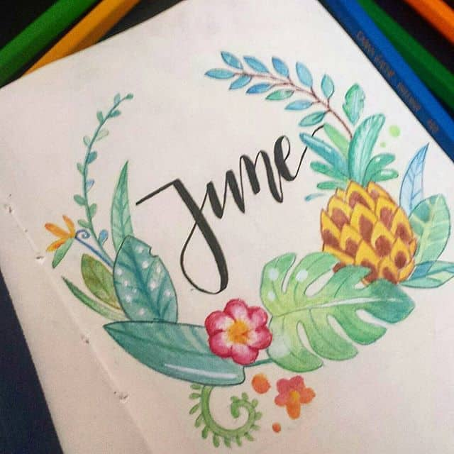 Pineapple Tropical Wreath June cover page