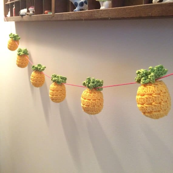 Tropical Pineapple Crochet Bunting
