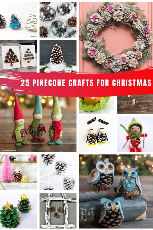 Loving these pinecone crafts - so many Christmas ideas! #christmas
