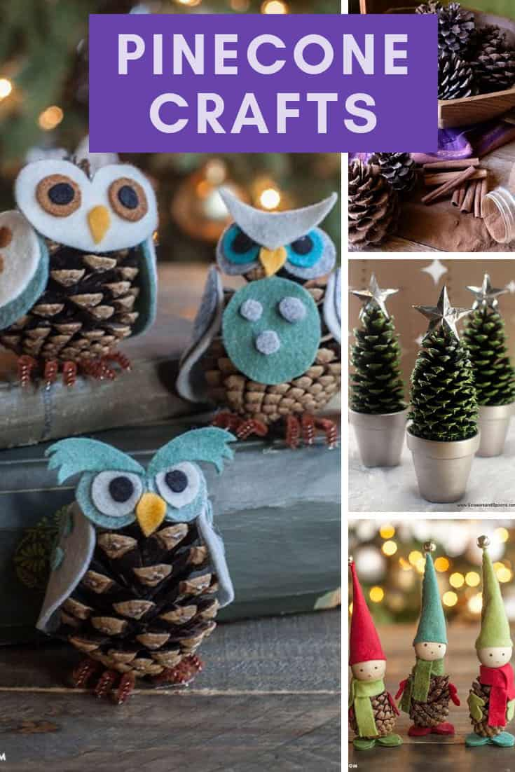 Pinecone Crafts for Christmas