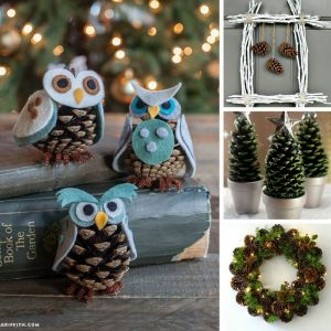Making Christmas decor items with pinecones is inexpensive, fun and so easy!