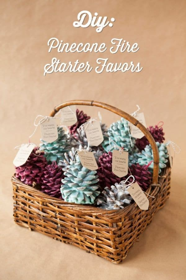 Pinecone Fire Starter Favors