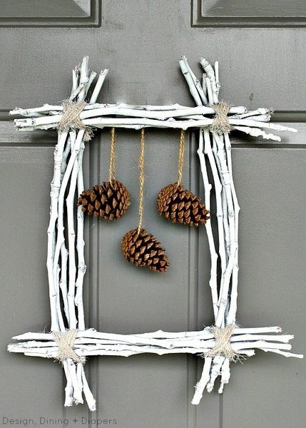 Pinecone Square Wreath