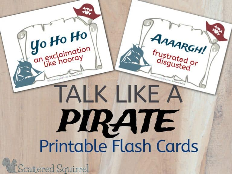 Pirate Printable Flashcards
