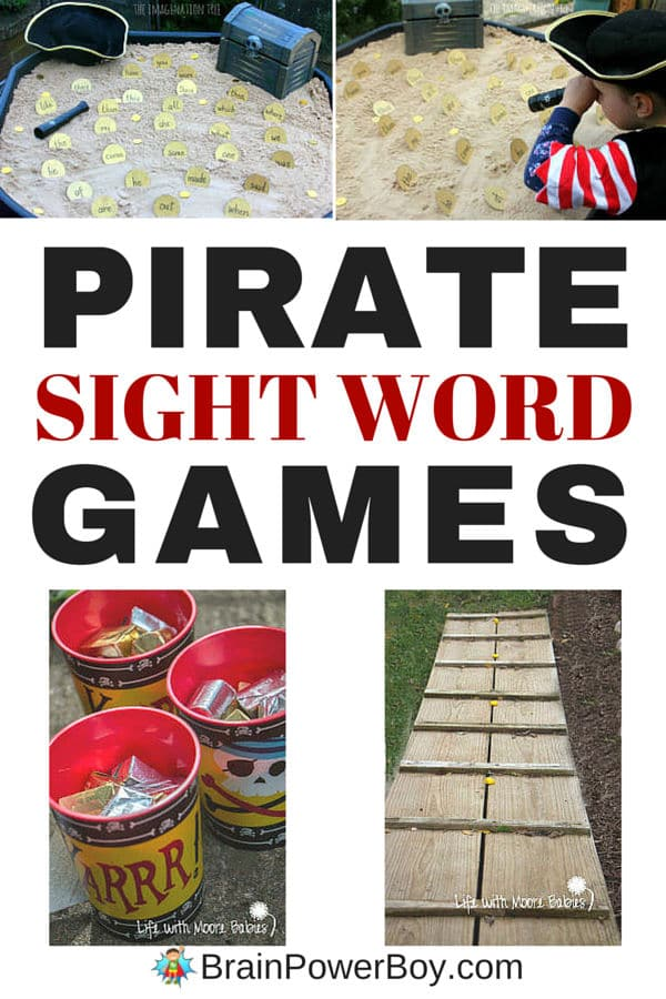 Pirate Sight Word Games