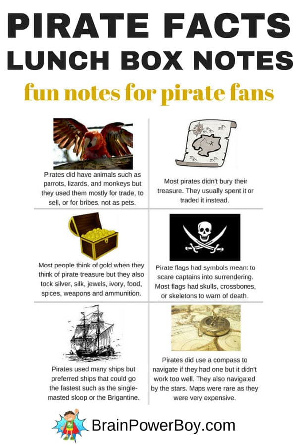 Pirate lunch notes