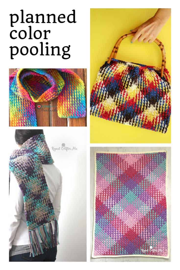 Want to try some planned color pooling projects? There are some great ideas in this list!