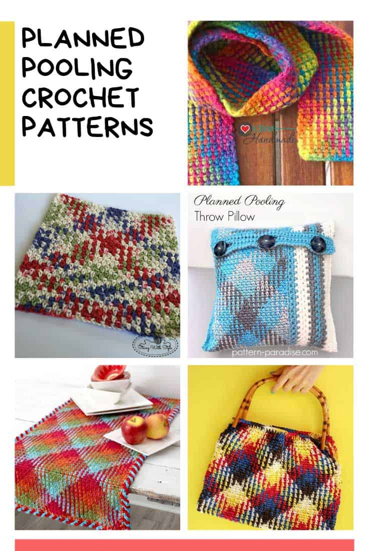 Ooh how fabulous are these planned color pooling patterns! Off to grab my crochet hook!