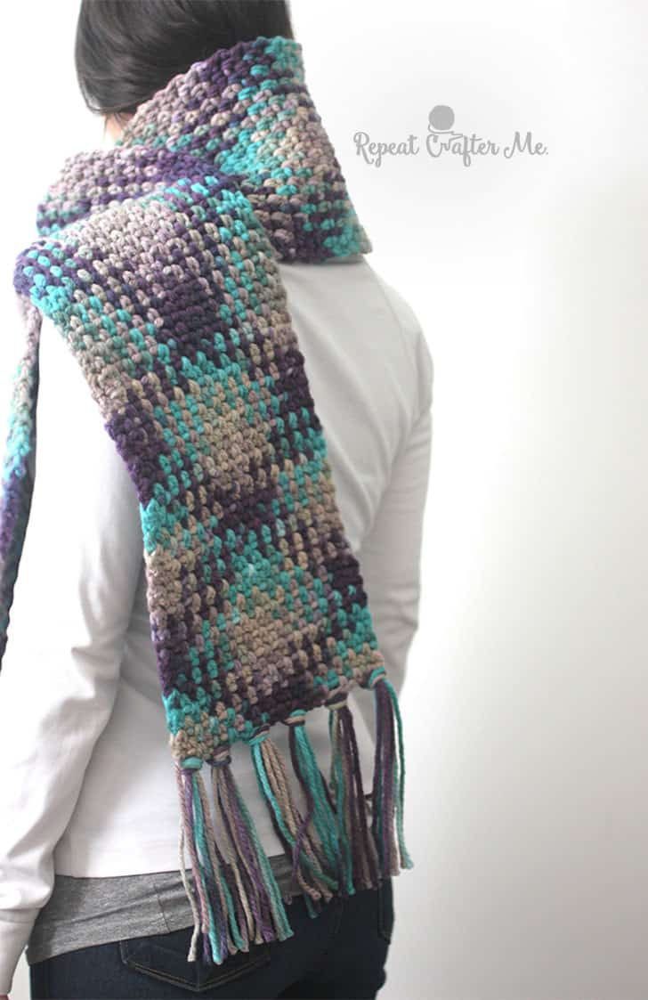 Planned Color Pooling Scarf