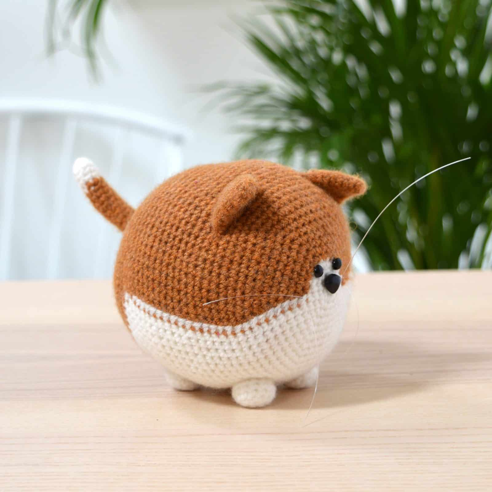 Round Cat Crochet Pattern