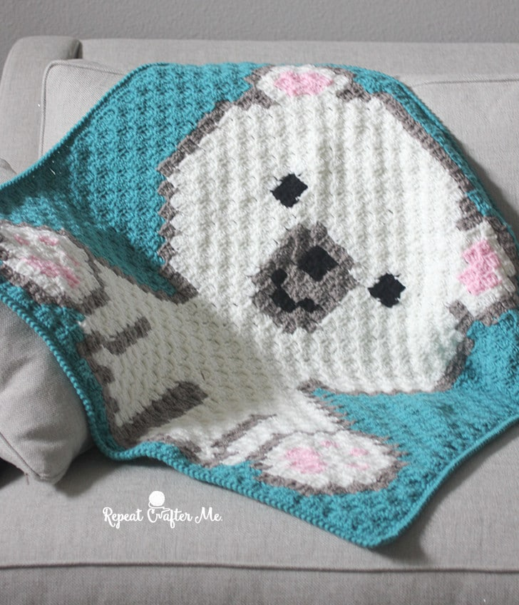 Polar Bear C2C Animal Blanket