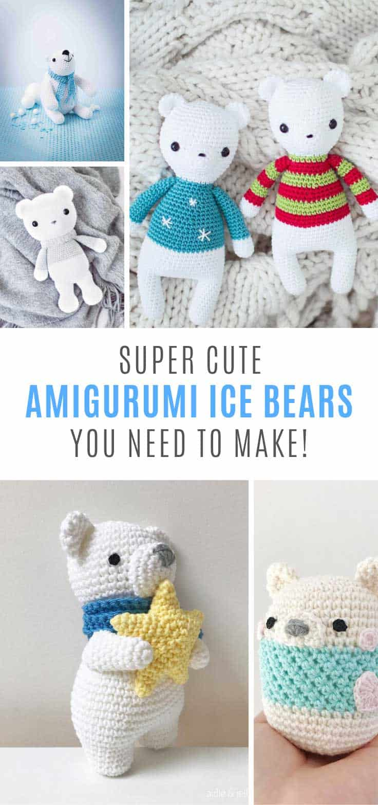 Loving these cute polar bear crochet patterns!