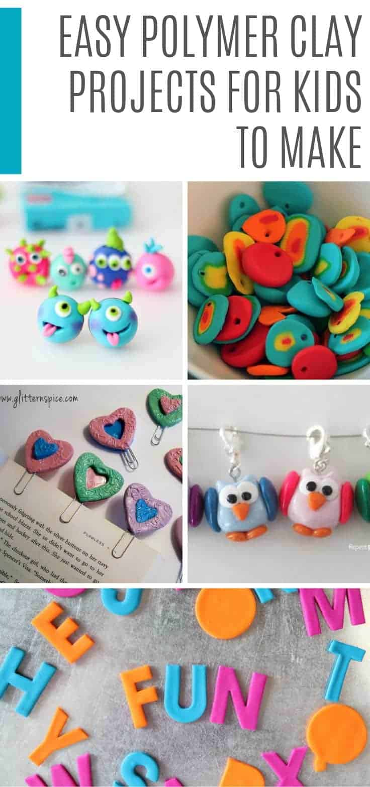 These polymer clay projects for kids are so much fun you'll be sitting down at the table and making some of them too! Everyone needs a set of those pretty pencils in their life for sure!
